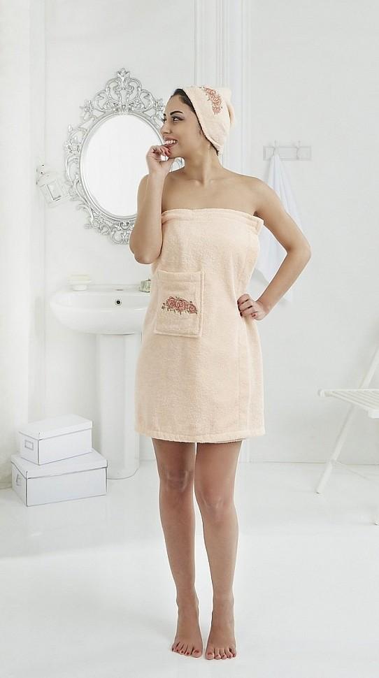 Набор для сауны женский Karna Pera абрикосовый