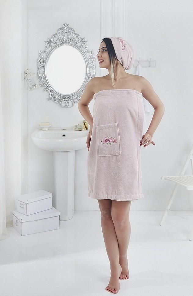 Набор для сауны женский Karna Pera розовый