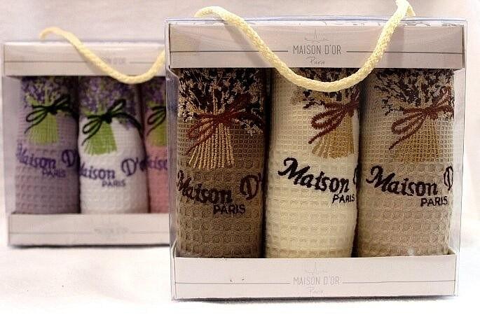 Набор кухонных вафельных полотенец Buket Maison D'or