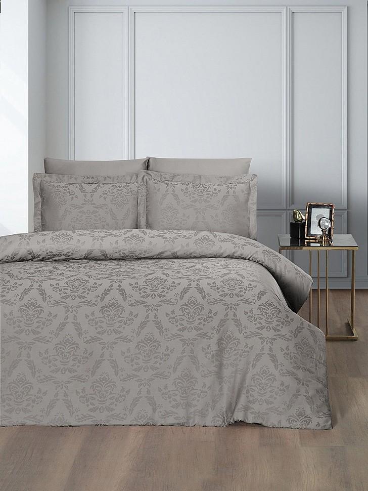 Комплект постельного белья Karna Benoit капучино
