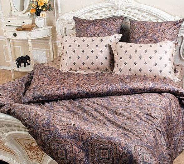 Комплект постельного белья из мако-сатина Linetex Э-38