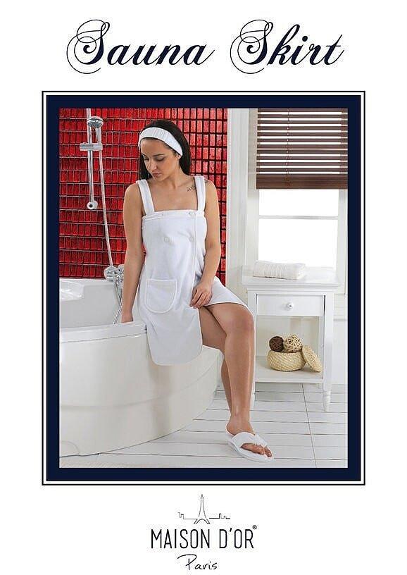Набор для сауны женский Skirt Maison Dor персик
