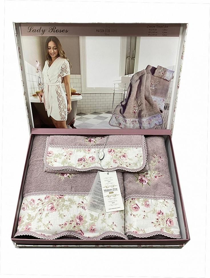 Комплект махровых полотенец Lady Roses Maison Dor сиреневый