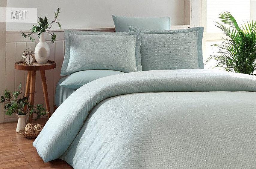 Комплект постельного белья Karna Ruya ментол