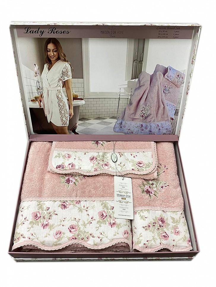 Комплект махровых полотенец Lady Roses Maison Dor грязно-розовый