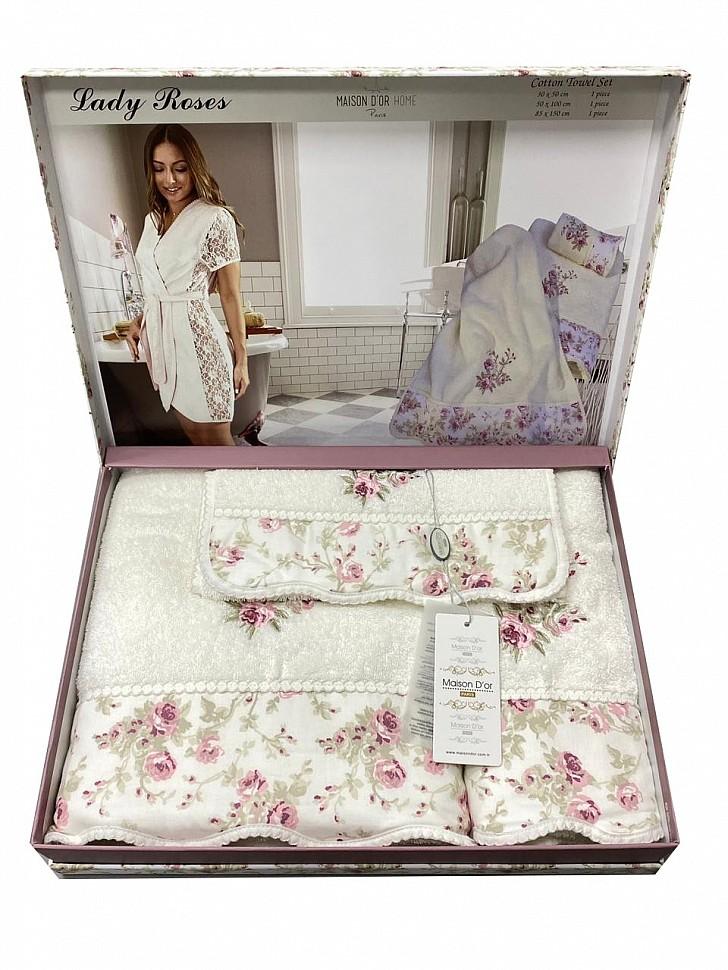 Комплект махровых полотенец Lady Roses Maison Dor кремовый