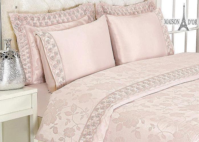 Комплект постельного белья Maison D'or Gupurlu грязно-розовый