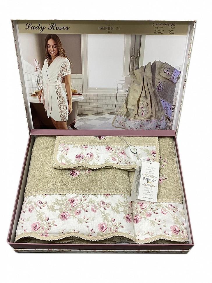 Комплект махровых полотенец Lady Roses Maison Dor бежевый