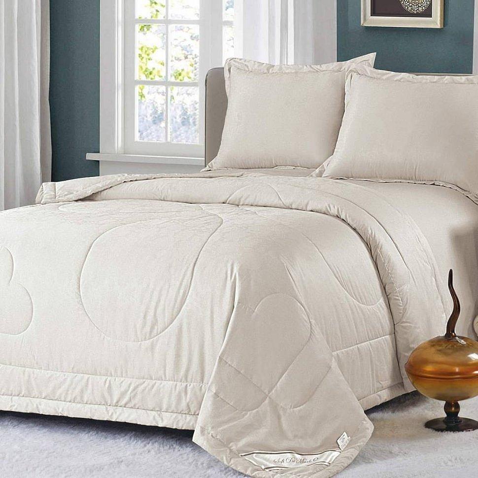 Комплект постельного белья с одеялом Ламберт светло-бежевый