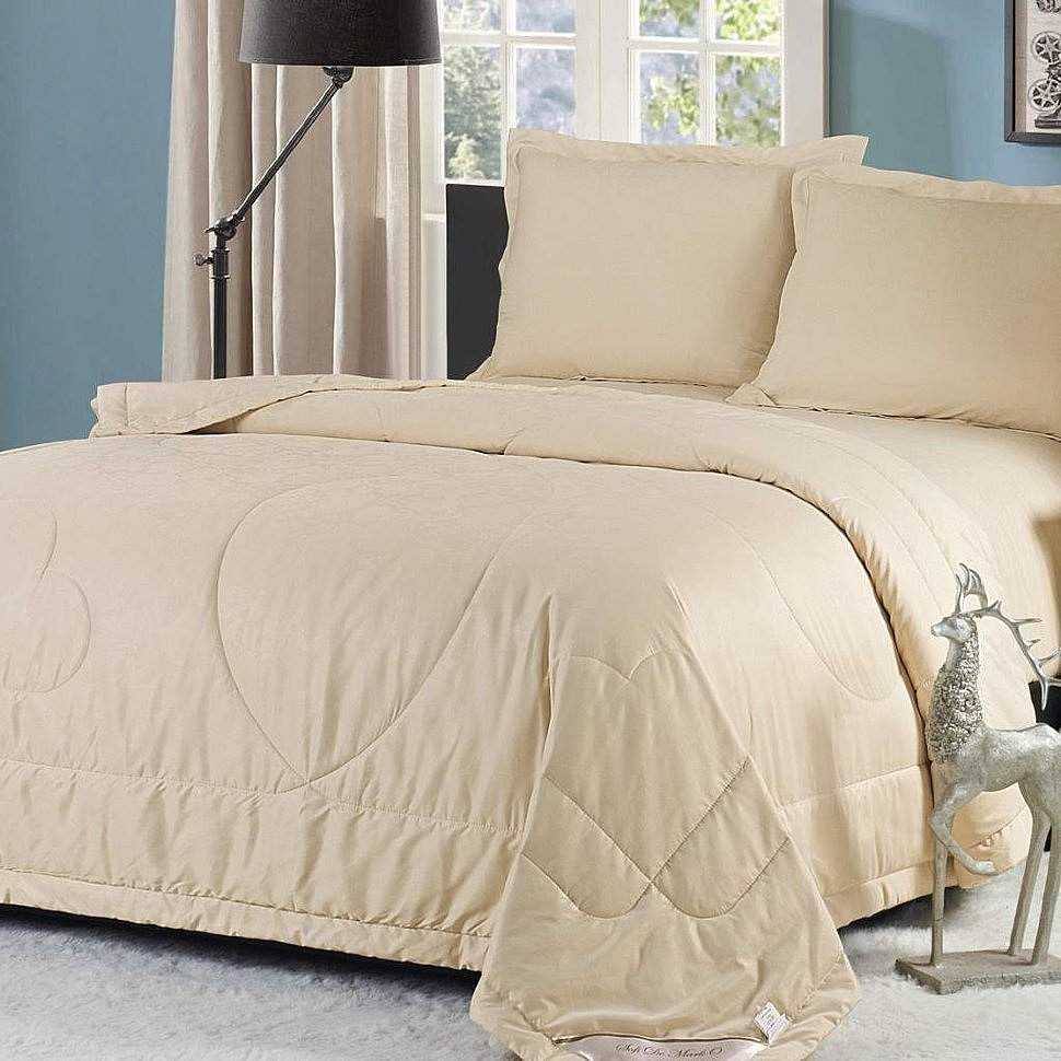 Комплект постельного белья с одеялом Ламберт бежевый