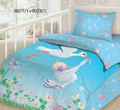 Комплект детского постельного белья Облачко Аист
