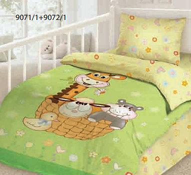 Комплект детского постельного белья Облачко Джунгли