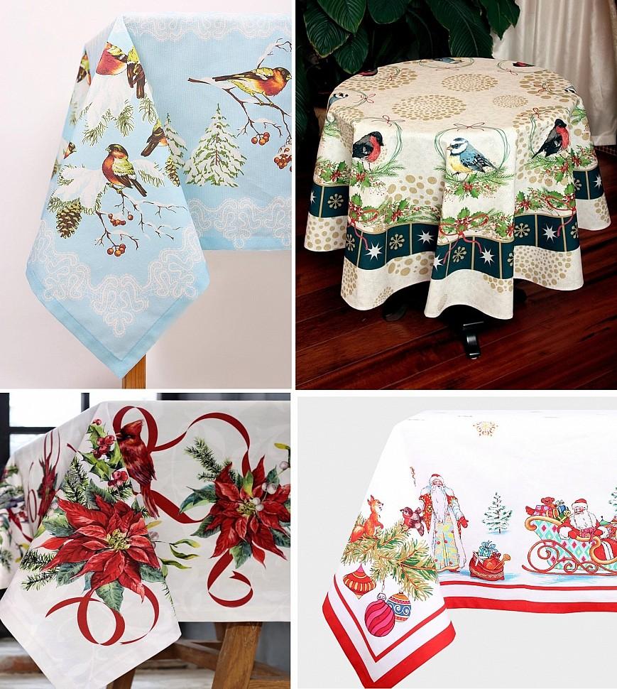 Заказывайте нарядные скатерти для новогоднего стола