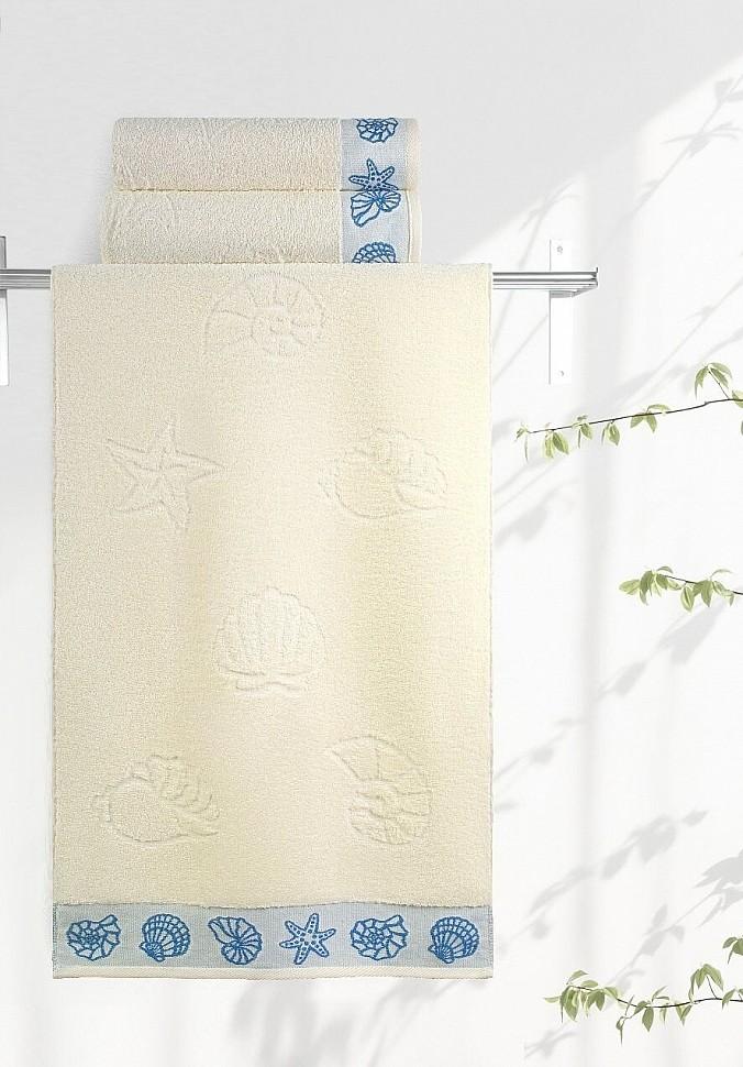 Полотенце махровое Ракушки ваниль