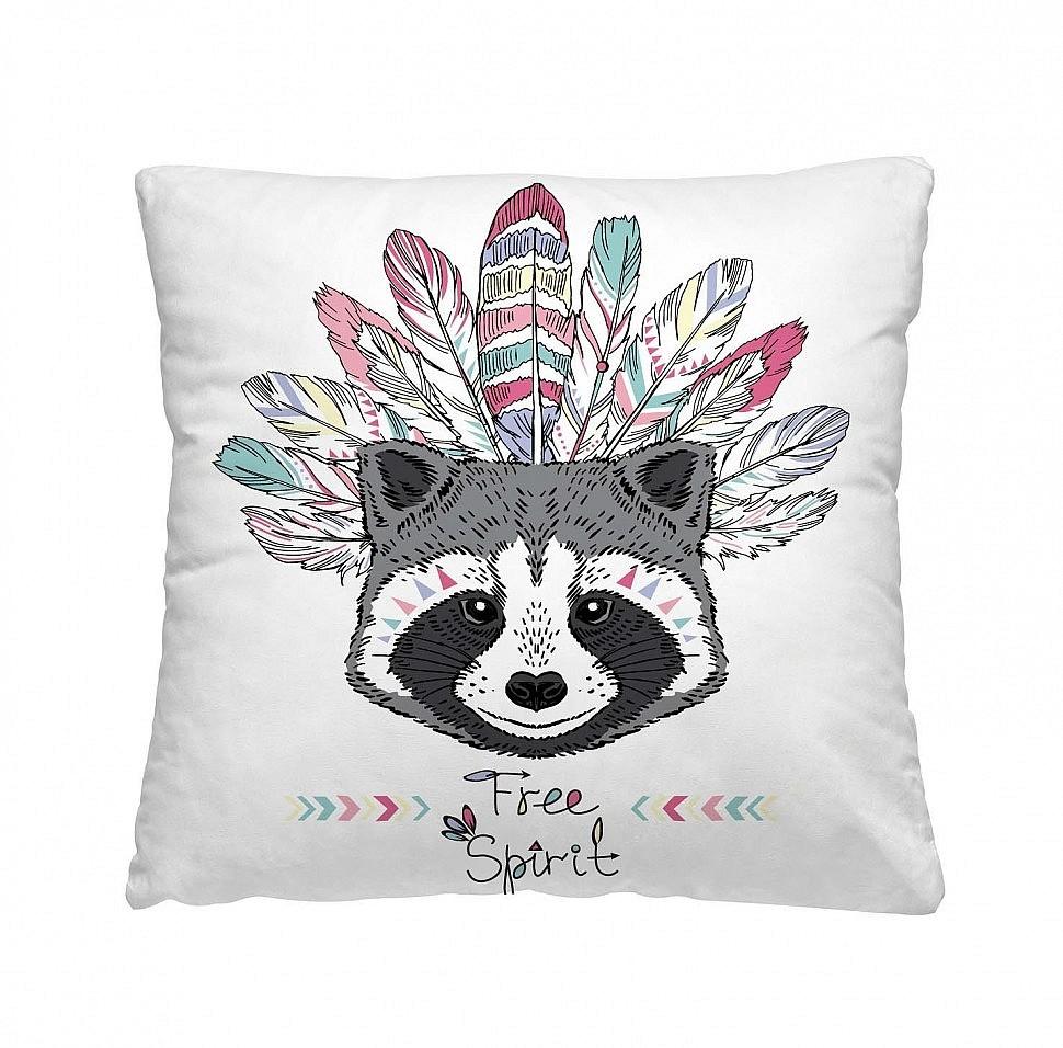 Декоративная подушка Енот
