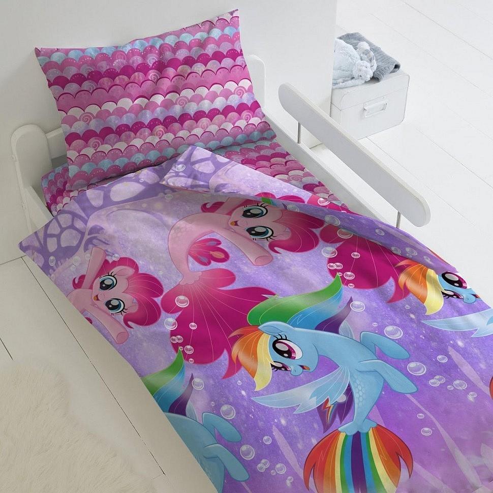 Комплект постельного белья Подводные пони My Little Pony Лицензии