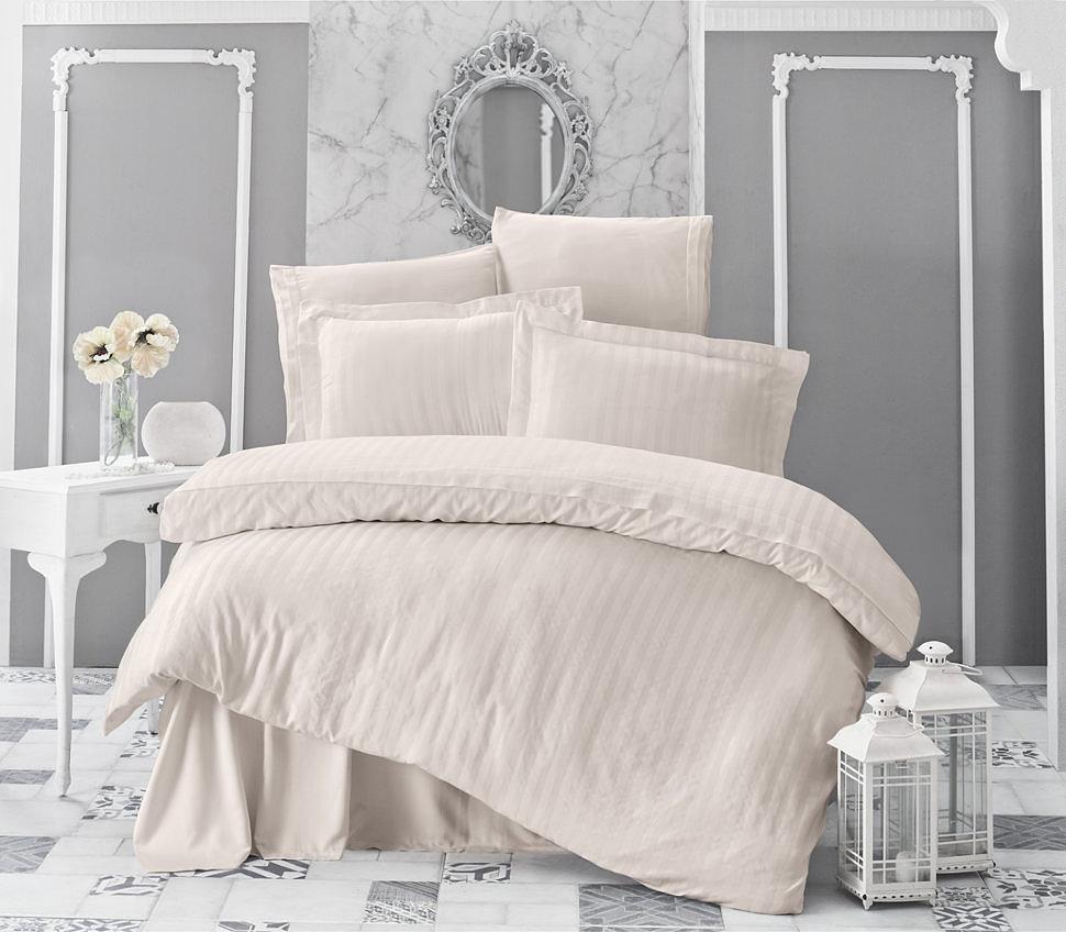 Комплект постельного белья Karna Perla кремовый