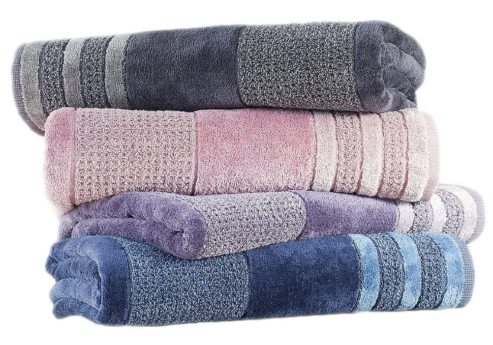 Полотенце махровое Jeans Buddemeyer фиолетовый