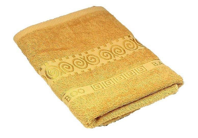 Полотенце Бамбук барокко Sunvim желтый